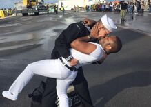When this sailor kissed his husband, conservatives erupted in anger