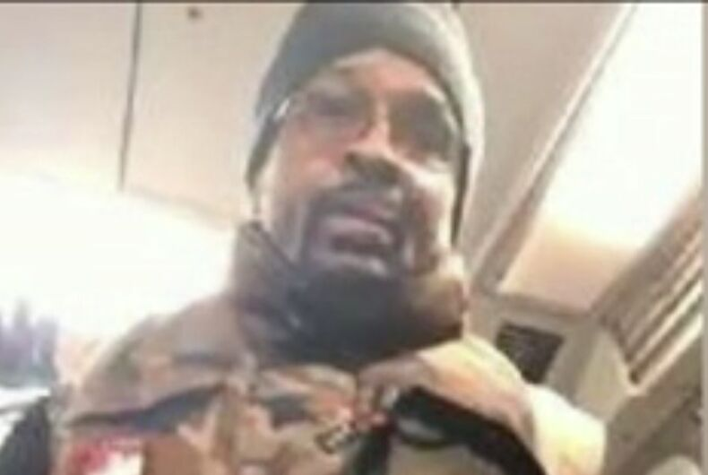 The suspect in the subway