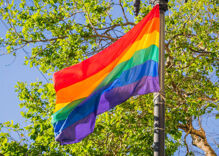 A lesbian couple's pride flag was stolen. Their neighbor's response was incredible.