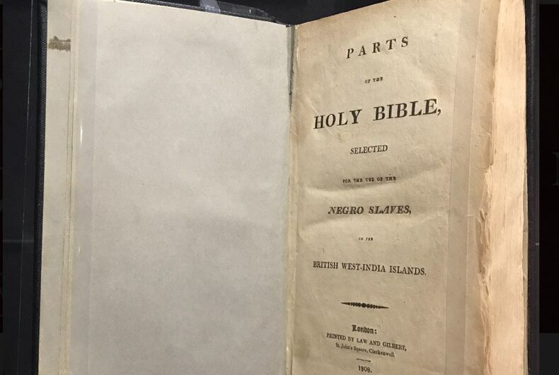 The title page of the bible in question.
