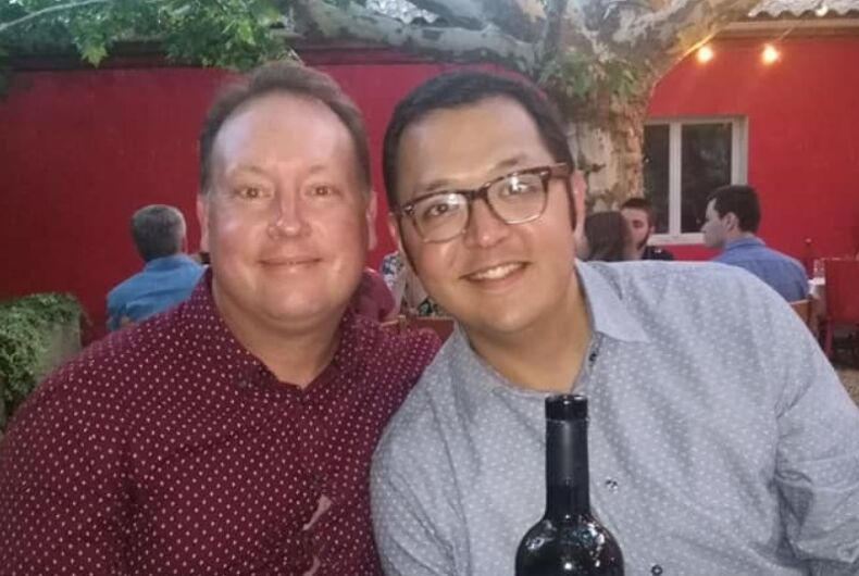 Aaron Lucero (right) and Jeffrey Cannon