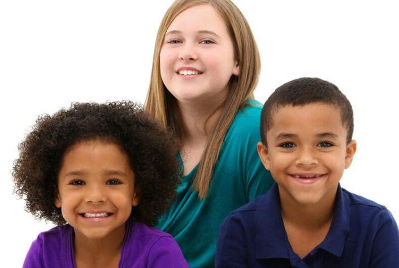 Three kids.