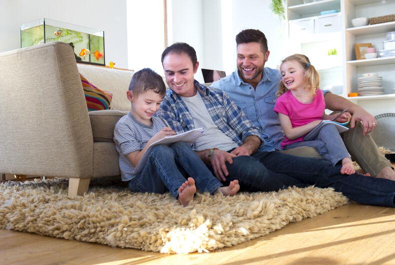 A majority of gay dads say their children still face social stigma