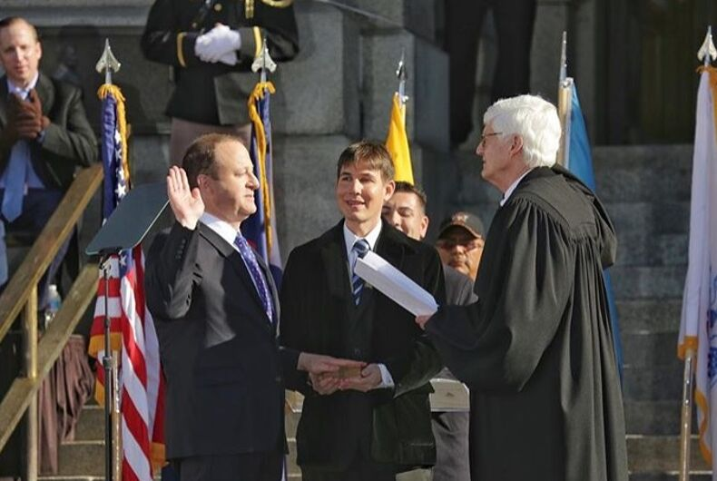 America's first gay elected governor was sworn in & LGBTQ people celebrated with him