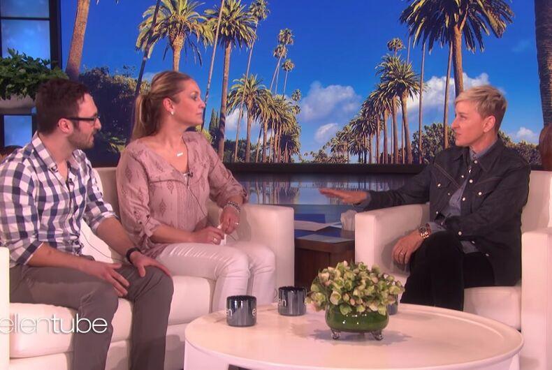 Bryden and Michelle Messer, with Ellen