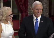 Mike Pence had to swear in America's first bi senator… & she didn't use a Bible