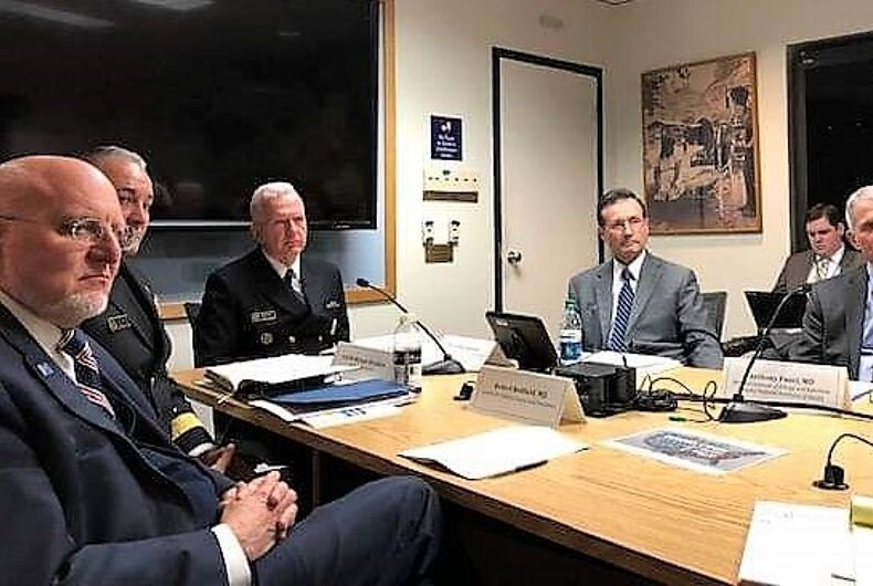 Meeting of Trump's team to end HIV on Feb 6, 2019.