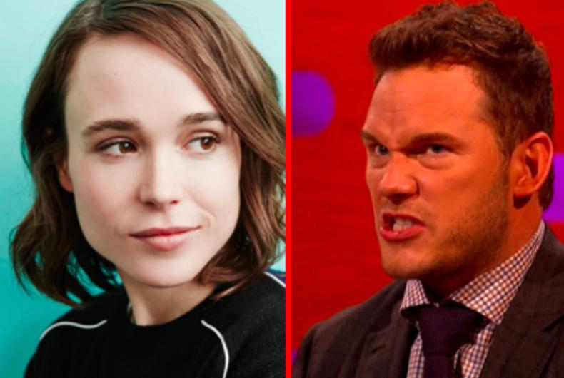 Actors Ellen Page and Chris Pratt