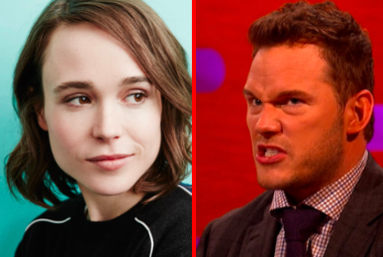 Actors Ellen Page and Chris Pratt