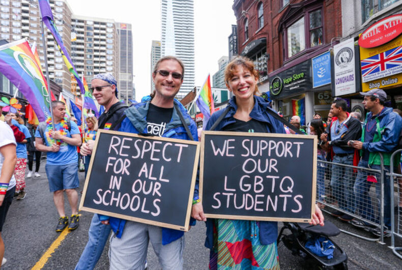 Elementary Teachers Federation of Ontario marched in the 2018 Toronto Pride parade.