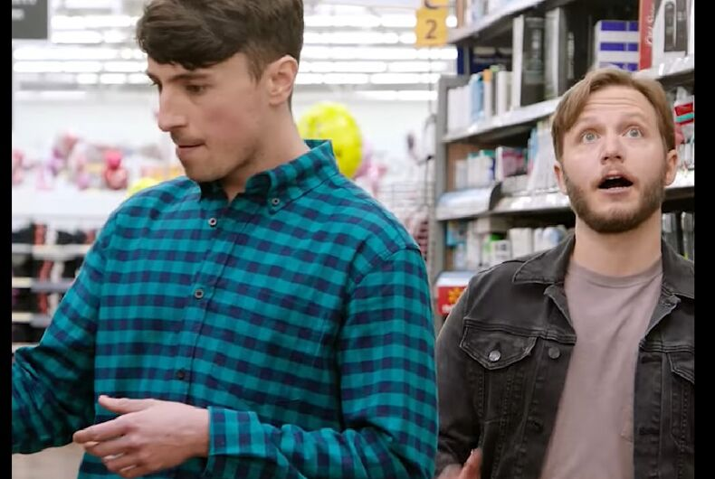 A scene with Pat and Andy at Walmart.