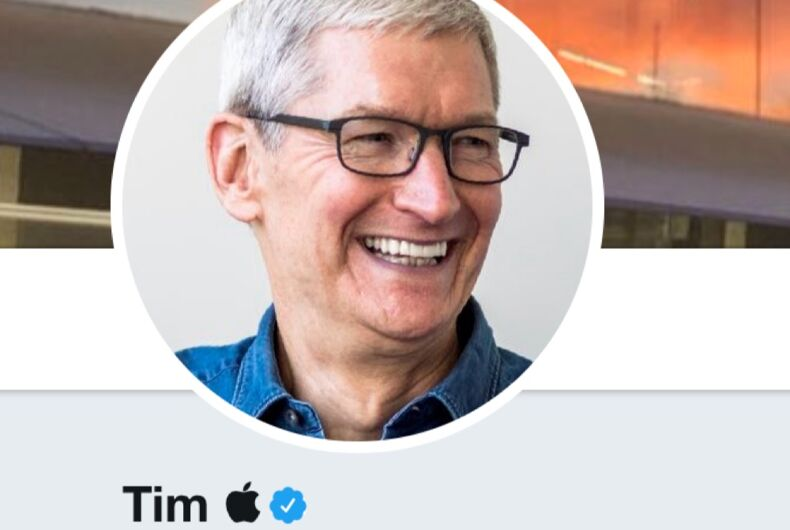 Tim Cook changed his username on Twitter to troll President Donald Trump