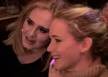 Adele and Jennifer Lawrence made a surprise appearance in a New York gay bar