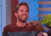Broadway star Ben Platt told Ellen that coming out isn't a 'giant announcement' anymore