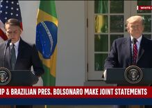 Trump smirks as Brazil's far right president says they are united against LGBTQ people