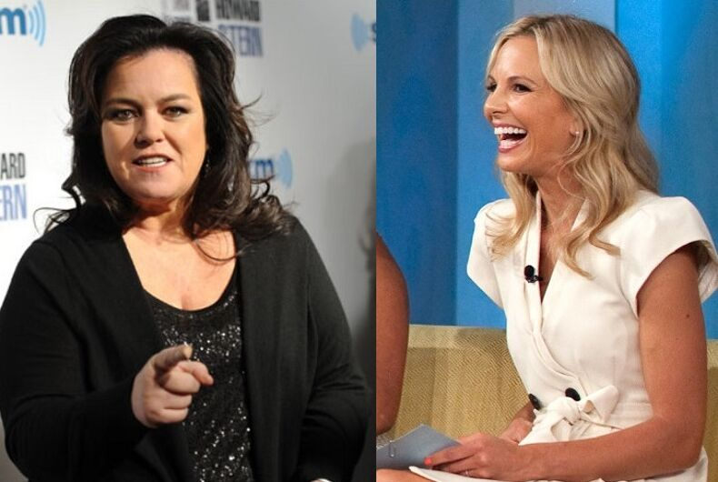 Rosie O'Donnell and Elisabeth Hasselbeck