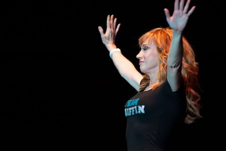 Comedian Kathy Griffin performs at Thunder Valley Casino Resort in Lincoln, California on September 20, 2013