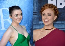 Maisie Williams & Sophie Turner kept making out on the set of 'Game of Thrones'