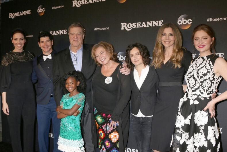 Whitney Cummings, Michael Fishman, John Goodman, Jayden Rey, Roseanne Barr, Sara Gilbert, Sarah Chalke, Emma Kenney at the