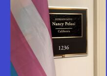 Nancy Pelosi & other prominent Democrats are hanging trans flags outside their offices