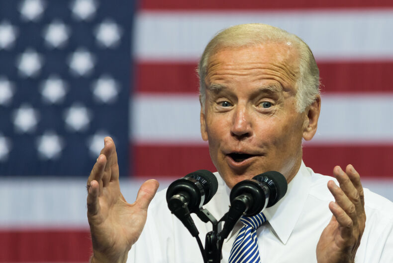 SCRANTON, PA, USA - AUGUST 15, 2016: Vice President Joe Biden delivers a speech at a campaign event for democratic presidential nominee Hillary Clinton