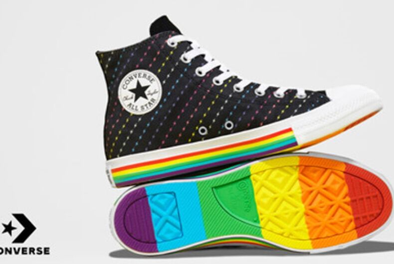 One of the many Converse pride sneakers now available for sale online