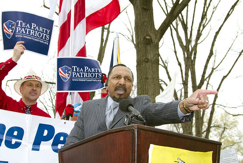 E.W. Jackson at a campaign stop in 2011