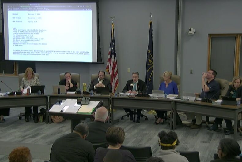 Hamilton Southeastern Schools board Vice President Sylvia Shepler made comments about trans students that were so outrageous, parents and students walked out in disgust.