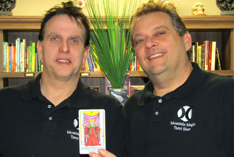 Mark Mullins (left) is suing the town of Richlands, VA for violating his religious freedom after town officials refused to allow him to open a tarot card reading shop.