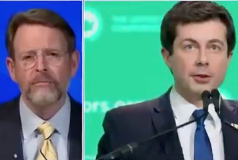 Tony Perkins and Pete Buttigieg