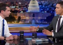 Watch Trevor Noah grill Pete Buttigieg over his white male privilege