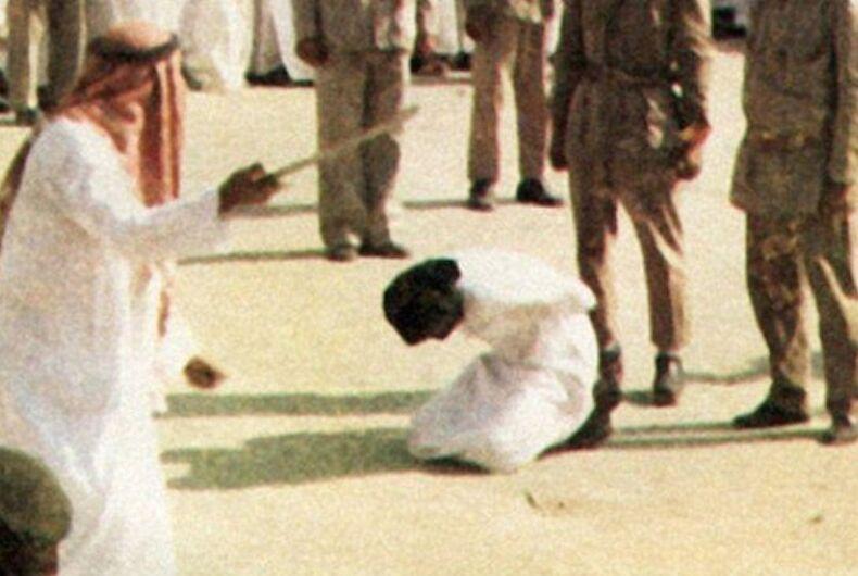 beheading, gay execution, Saudi Arabia