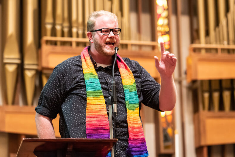 MARCH 5, 2019: Openly gay Elk Grove pastor Matt Pearson speaks about his experiences at the recent United Methodist Conference, where the anti-gay Traditional Plan was passed.