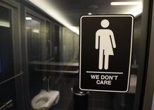 Teen gets kicked in the balls after trying to invade women's restroom to protest a trans student