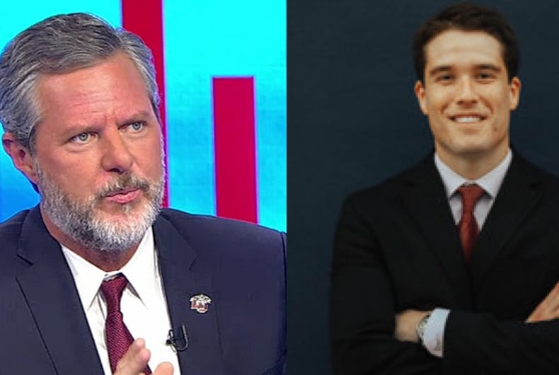 Jerry Falwell Jr. and Giancarlo Granda