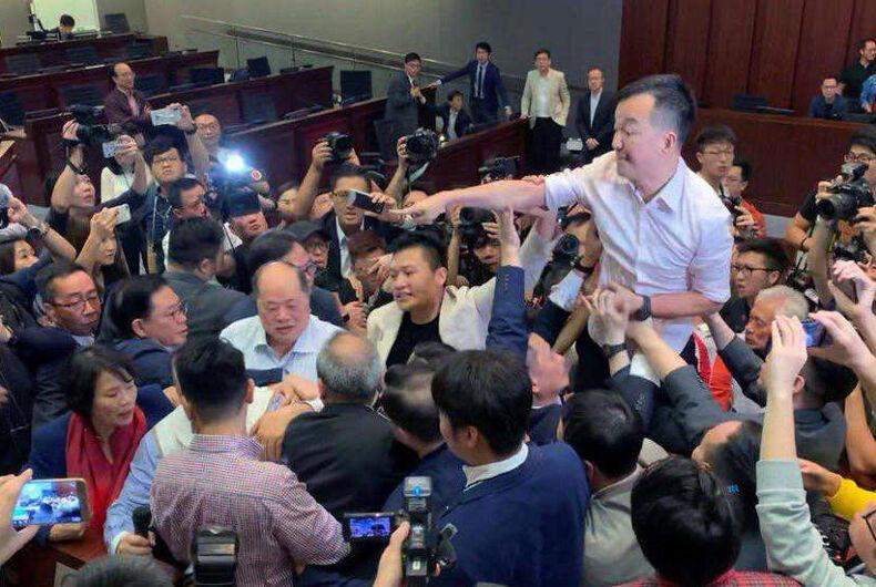 Hong Kong's sole gay lawmaker, Ray Chan