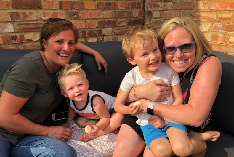 Allison Blixt, Stefania Zaccari, and their two children.