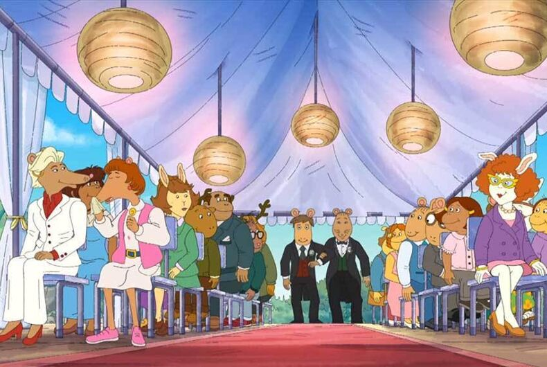 Mr Ratburn gets married on the children's cartoon