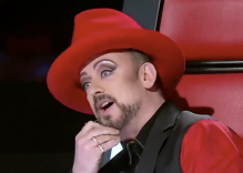 Diva Boy George dramatically walked off stage during a 'Voice' blind audition