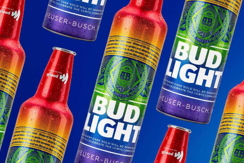 Bud Light's new rainbow colored aluminum bottles
