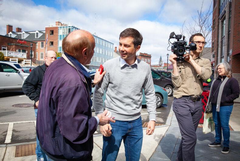 April 5, 2019: Democratic 2020 U.S. presidential candidate Pete Buttigieg campaigns in New Hampshire