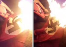 This man tore down his neighbor's Nazi flag & burned it because local authorities couldn't step in