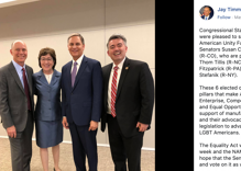 Two senators that oppose LGBTQ rights were 'honored' at a gay Republican fundraiser