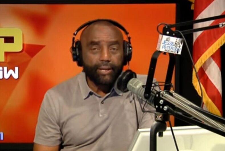 Jesse Lee Peterson on his radio show