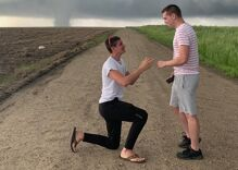 Their relationship has been a whirlwind. So was his death defying marriage proposal.