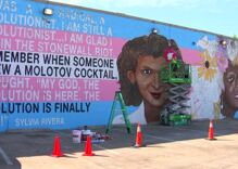 A giant mural honoring transgender icons is looming large in Texas