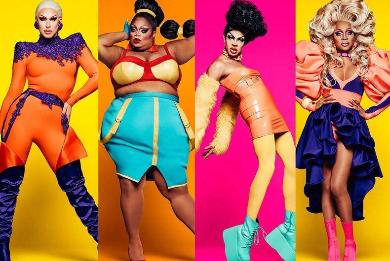 The final four queens of Season 11: Brooke Lynn Hytes, Silky Nutmeg Ganache, Yvie Oddly, and A'Keria C. Davenport