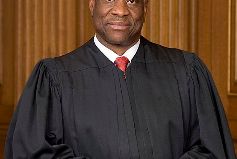 Clarence Thomas suggests the Supreme Court's marriage equality ruling should be overturned