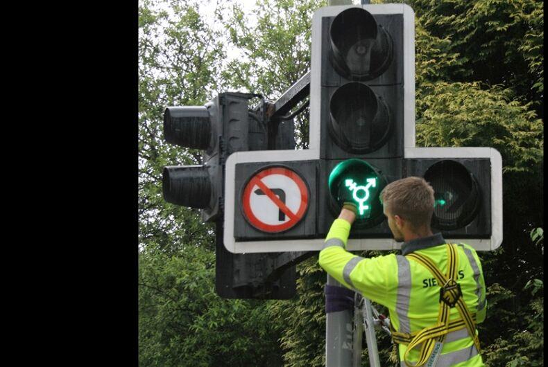 Edinburgh is installing LGBTQ-themed traffic signals for Pride