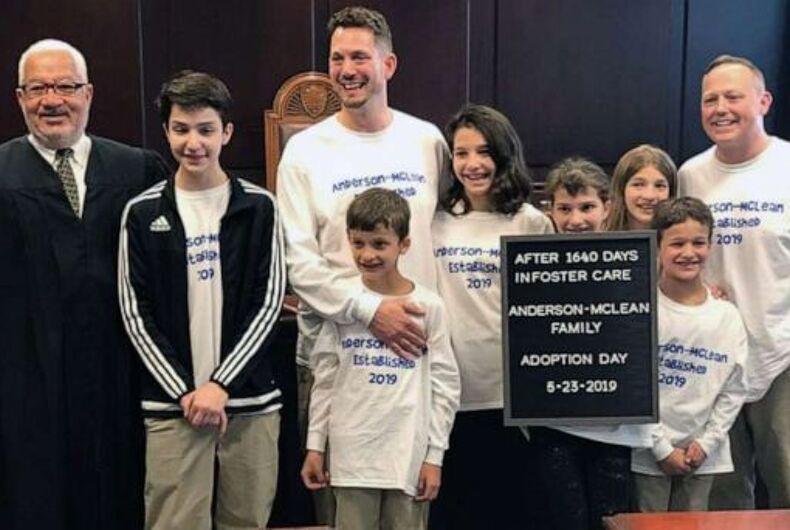 Steve and Rob Anderson-McLean, gay adoption, siblings